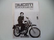 advertising Pubblicità 1976 MOTO DUCATI 125 ISDT REGOLARITA'