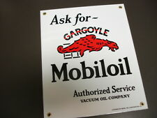 Mobil MobilOil Gargoyle Oil Gasoline Porcelain Advertising sign