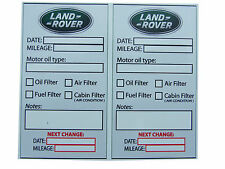 LAND ROVER Oil Change Service Reminder Sticker - SET of  10 PVC Stickers