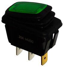 Interrupteur commutateur contacteur bouton à bascule vert SPST ON-OFF 25A/12V