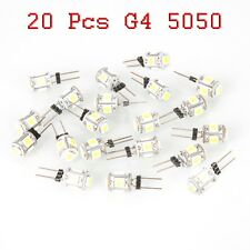 20 Pcs Warm White G4 5 SMD LED 5050 DC 12V RV Marine Boat Camper Light Bulb Lamp