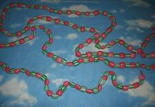 16 Feet Green & White Red & Pink Striped Plastic Candy Chirstmas Garland