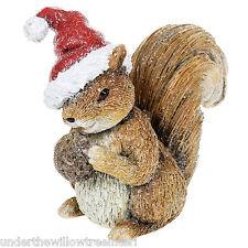 Adorable Woodland Christmas Squirrel Figurine Ornament Xmas