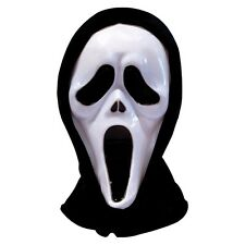 Halloween Scream Scary Ghost Face Fancy Dress Costume Mask With Hood Hooded