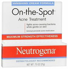 Neutrogena On-The-Spot Acne Treatment Vanishing Cream Formula 0.75 oz (9 pack)