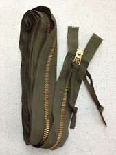 Military Surplus Replacement Tent Zipper 15 FT Brass Heavy Duty #22606