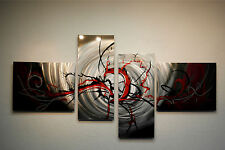 Abstract Metal Wall Art- Contemporary Modern Decor Original - Basilisk in Red