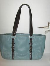 Coach Chelsea Teal peeble leather tote/shoppers #D1051-F12339