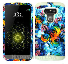 KoolKase Hybrid Impact Silicone Cover Case for LG G5 - Rainbow Rose Flower 20