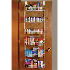 Space Saving Over the Door Storage Shelf Larger Kitchen Pantry Rack Organizer