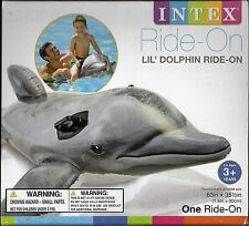 Intex Ride On Inflatable Lil Dolphin Swimming Pool Float-Toy-Raft 63 by 35.5 in