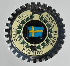 AUTOMOBILE CLUB OF SWEDEN GRILLE BADGE EMBLEM VOLVO BMW MERCEDES PORSCHE FORD