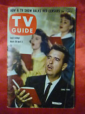 March 28 New England ed. TV GUIDE 1959 ERNIE FORD Mary Martin Patricia Barry