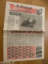 1990 SPECIAL NEWSPAPER DE TELEGRAAF DUTCH TT ASSEN GRAND PRIX MOTO GP,SCHWANTZ