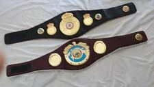 1 WBO & 1 WBA Boxing Replica Championship Belt Metal Plates Faux Leather 50 inch