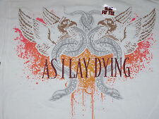 As I Lay Dying, Slim Fit, Short Sleeve, Shirt White, 100% Cotton, XXL,