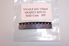 VN10LF  60V 150mA  5ohm N Channel SOT23  MOSFET Qty.10 NEW