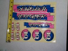 NOS VINTAGE GT PERFORMER  STICKER PAGE  BMX FREESTYLE RACING
