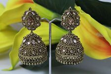 Indian Bollywood Traditional Jhumka Jhumki Earring Jewellery Stonework 103