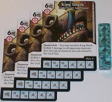 4 x KING SHARK: UNDERWATER AGGRESSION 25 Green Arrow & The Flash Dice Masters