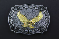 GOLDEN EAGLE BELT BUCKLE METAL WESTERN COUNTRY AMERICAN