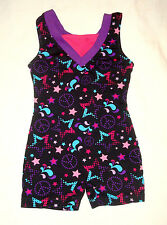 Freestyle Multi-Colored Stars Unitard Gymnastic Dance Leotard Child Sz XSmall