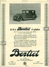 Publicité ancienne voiture automobile 11 CV BERLIET 1926