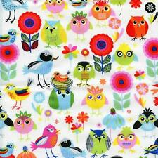 Birds of a Feather White Quilt Sew Fabric TIMELESS TREASURES