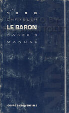 1990 Chrysler LeBaron Owners Manual Coupe and Convertible Original Owner Guide