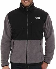 The North Face Denali Jacket Charcoal Grey Heather/TNF Black Men Jacket, LG, NWT
