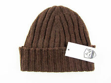 Men's COUNTRY CLUB Earth Brown Cashmere Knit Beanie Hat Cap 65 M L $195!