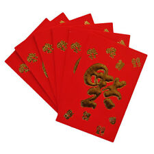 6 CHINESE NEW YEAR RED ENVELOPES - GOLDEN BLESS - LUCKY BAGS