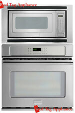 """Bundle – Frigidaire Pro 27"""" Stainless Steel Electric Wall Oven Microwave Combo"""