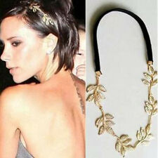 Women Fashion Metal Leaf Flower Head Chain Jewelry Headband Head Piece Hair band