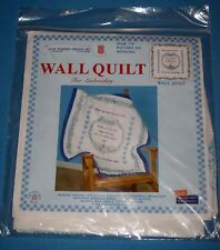 Jack Dempsey NIP Wall Quilt Kit Wedding Embroidery When 2 Hearts in Love Unite!