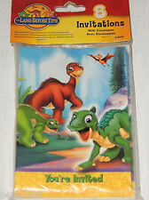 ~THE LAND BEFORE TIME~ 8 PAPER INVITATIONS W/ ENVELOPES    -    PARTY  SUPPLIES