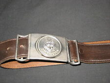 Wolf Cubs Leader Leather Belt, waist 36  Canada     eb05
