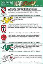 Kits World Decals 1/72 & 1/48 LUFTWAFFE FIGHTER UNIT EMBLEMS Part 2