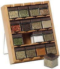 Kamenstein Bamboo Inspirations 16-Cube Spice Rack with Free Spice (5084922) NEW