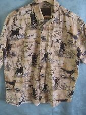 North River Outfitters Bird Dog Theme Shirt Size XL Soft Cotton Hunting