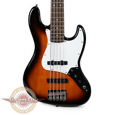 Brand New Fender Squier Affinity Jazz Bass V 5 String Rosewood in Brown Sunburst