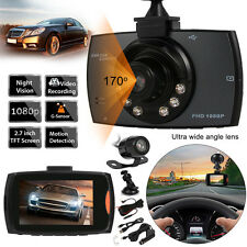 "Dual-Kameras 2.7""HD 1080P KFZ Vehicle DVR Dashcam Auto Vehikel CarCamcorder LED"
