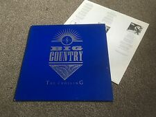 BIG COUNTRY - THE CROSSING - 1983 LP WITH TEXTURED SLEEVE & INNER EX/EX