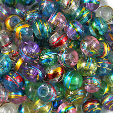 Wholesale 50X plaqué or bord czech glass round craft string diy perles bijoux