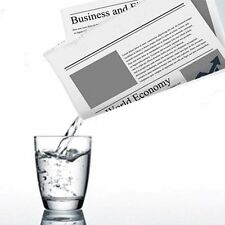 Magicians Appearing Disappearing Liquid From Newspaper Gimmick Prop Magic Trick