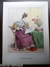 Lithographie French Lithography Fashion 19th century XIXe siecle Mode feminine