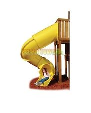 Playground Turbo Tube Slide Yellow suits a 2100mm deck Cubby House Accessories