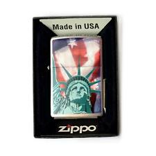 ACCENDINO BENZINA ANTIVENTO ZIPPO STATUE LIBERTY 28282 LIGHTER MADE USA