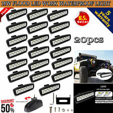 20PCS 18W CREE LED Work Light Flood Offroad Truck ATV Car SUV Jeep Fog Lamp 12V