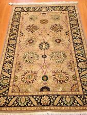 4x6 Hand knotted Pak Persian oriental rug Grey 100% Wool Pile 15x15 Double Knot.
